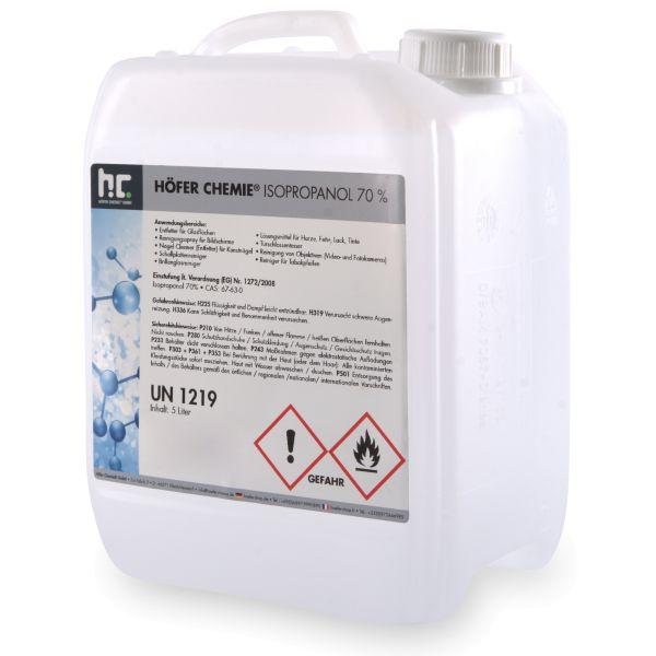 5 Liter Kanister Isopropanol IPA 70% Höfer Chemie