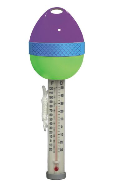 Farbiges Schwimmthermometer lila