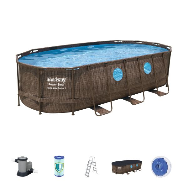 Power Steel™ Pool Set oval