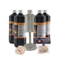 Set - Öllampe, 4x1 l Lampenöl und 2x Docht