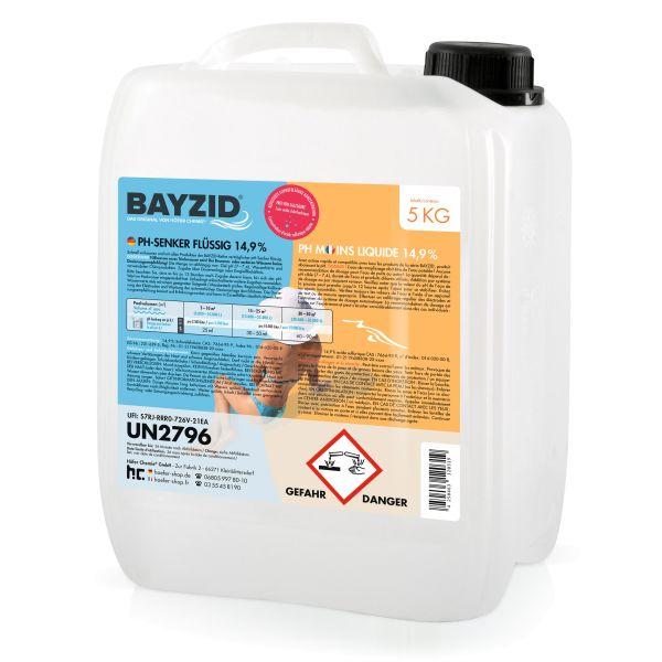 5 kg BAYZID® pH Minus flüssig 14,9%