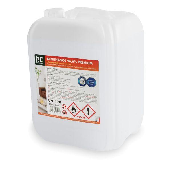 10 Liter Bioethanol 96,6% für Ethanolkamin von Höfer Chemie im 10l Kanister