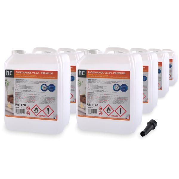 8 x 5 L Bioethanol 96,6% Höfer Chemie im 5l Kanister Brenstoff
