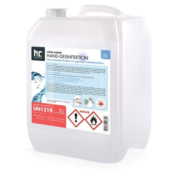 5 L WHO Desinfektionsmittel für Hände - anwendungsfertig