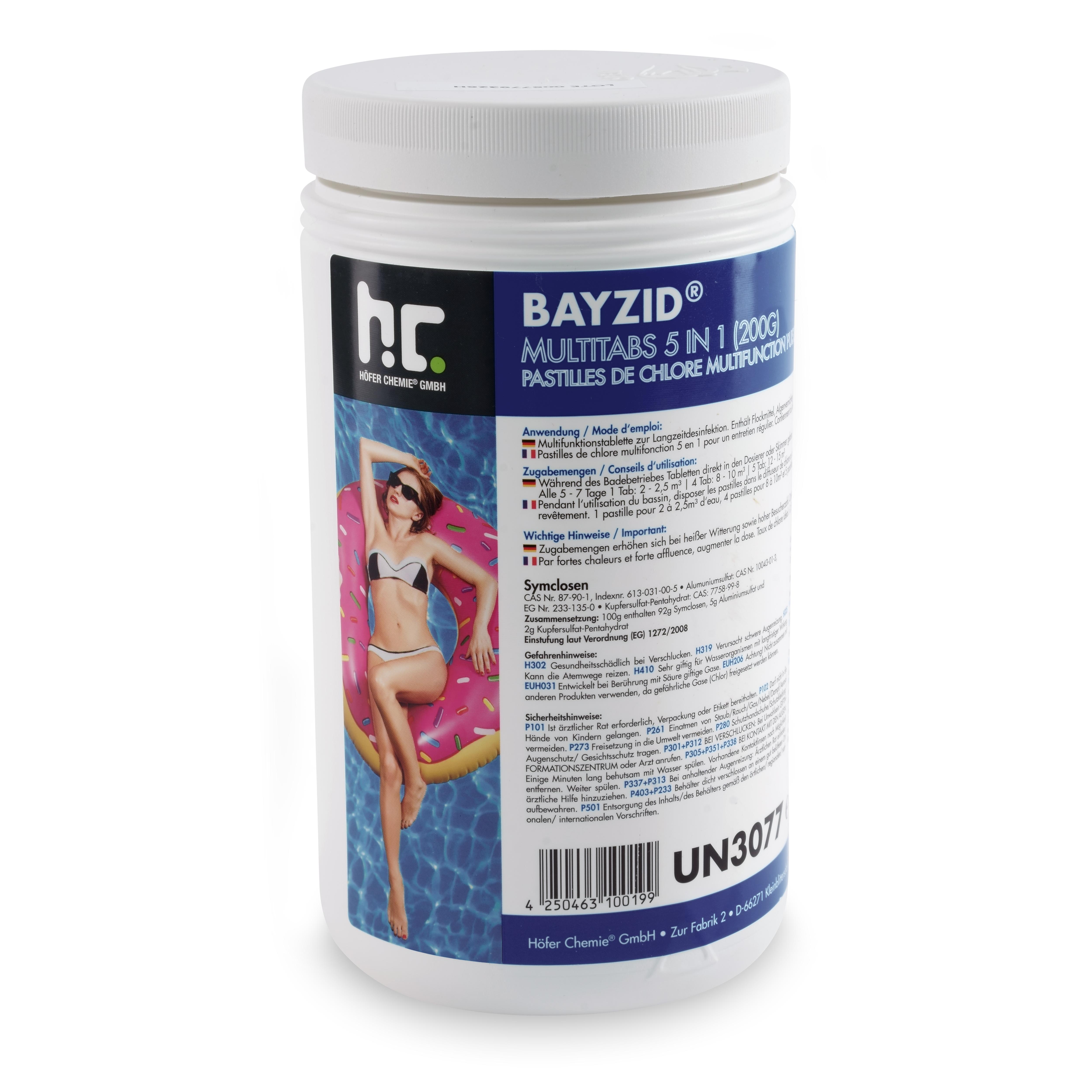 122 kg BAYZID® Multitabs 122g 122in122 für Pools Farbe