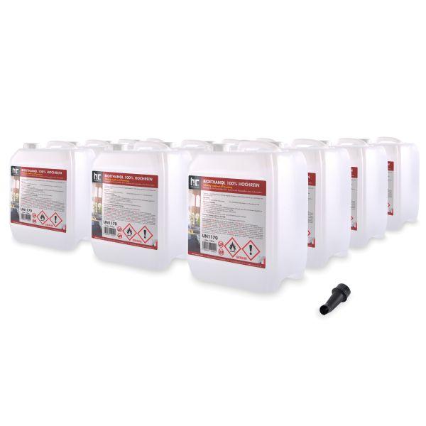 12 x 5 Liter Bioethanol 100% 5 L Kanister Höfer Chemie Brennstoff