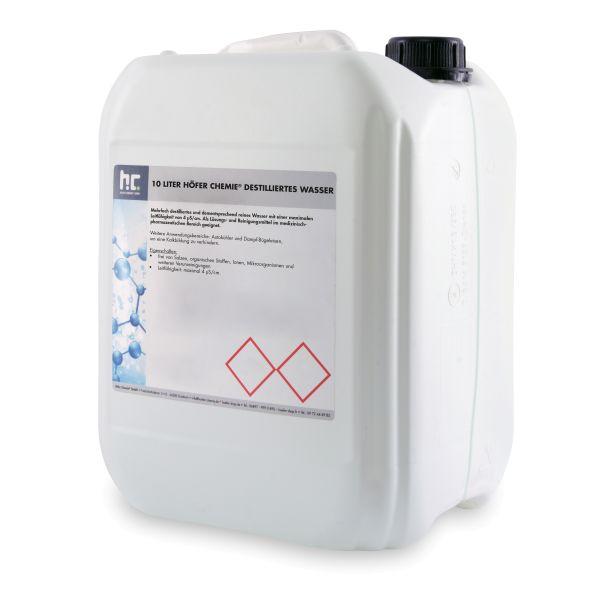 10 Liter Kanister mehrfach destilliertes Wasser Qualität von Höfer Chemie