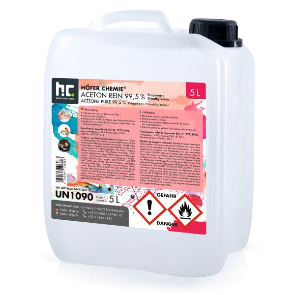 5 Liter Kanister Aceton rein von Höfer Chemie