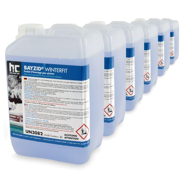 Höfer Chemie BAYZID® Winterfit 4x3 Liter für Pools zur Überwinterung
