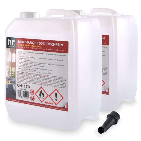 2 x 5 Liter Bioethanol 100% 5 L Kanister Höfer Chemie Brennstoff